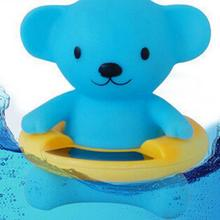 Duck Pig Cute Bear Kids Children Bath Tub Hot Cold Water Thermometer Garden Vegetable Scale Plastic Fish Toys Dial