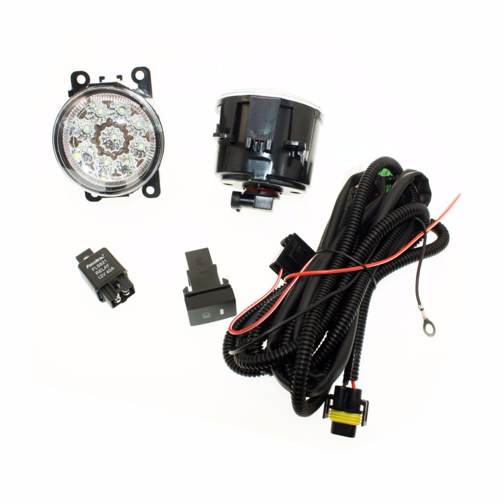 For VAUXHALL ASTRA Mk IV (G) 98-05 H11 Wiring Harness Sockets Wire Connector Switch + 2 Fog Lights DRL Front Bumper LED Lamp <br>