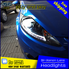 Car Styling Head Lamp for Ford Fiesta Headlights 2009-2013 LED Headlight DRL Daytime Running Light Bi-Xenon HID Accessories