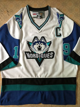 Quebec Nordiques Joe Sakic White Hockey Jersey Stitched Customized Any Name And Number Jerseys(China)