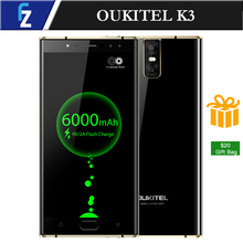"OUKITEL K3 6000mAh 4 Cameras 4G RAM 64G ROM MTK6750T Octa-core 9V2A Quick Charge 5.5"" FHD 2.5D Front Fingerprint LTE Smartphone"