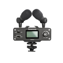 Saramonic CaMixer VIDEO Microphone Dual Stereo Condenser Digital Mixer 48V Phantom Power Preamp For DSLR Cameras and Camcorders