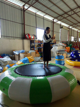 colorful 2*2*0.45m PVC tarpaulin inflatable jump bed for children or adults outdoor sports bouncing movement