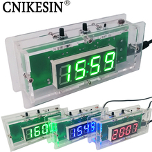 CNIKESIN DIY kit Digital clock Electronic clock C51 microcontroller LED digital temperature control diy clock 3colors (optional)