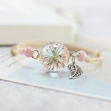 dried flowers plant specimens bracelet ball dandelion all over the sky star girlfriends female lovers gifts  MS3147