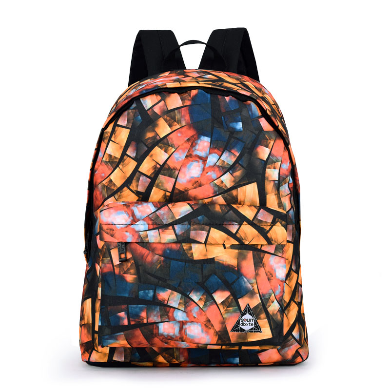 LACATTURA Cool Boys Stylish Leisure Printing Backpack Mens Backpack Printing Bag for School Girls College Student Backpack<br>