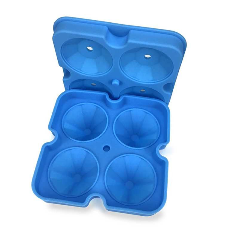 2018 New Silicone Ice Cube Tray Diamond Shape 3D Ice Cube Mold 4 Cavity Ice Ball Maker Home Bar Ice Cream Tools Kitchen Gadgets (11)