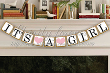 Hot Sale Customised Its A Girl Banner - Party Photo Prop - Baby Announcement Garland -Baby shower garlands