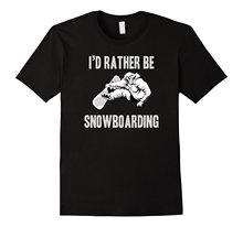 I Would Rather Be Snowboardings T Shirt Printed T-Shirt Boys Top Tee Shirt Cotton Top Tee Great Discount Cotton Men Tee(China)