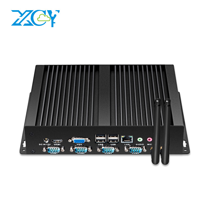 XCY Industrial Mini PC Multi-serial Ports 4xRS232 8xUSB HDMI VGA WiFi Windows 7/8/10 Linux Rugged Mini Computer 12V(China)