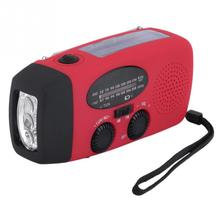 HY-88WB Protable Emergency Hand Crank Generator AM/FM/WB Radio Flashlight Charger Waterproof Emergency Survival Tools(China)