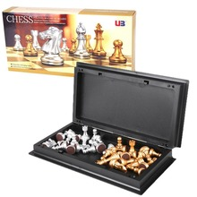 8 Inch International Foldable Magnetic Mini Board Golden Silver Chess Game Piece Party Supplies For Families Friends