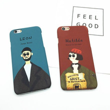 Couples Silicone Mobille Phone Cases For iPhone6 6S Customization Lovers Leon&Matilda Back Covers For iPhone7 7plus 6plus 5 5S(China)