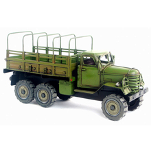liberator metal model car 1:18 Iron Chinese Old liberated six wheels truck model gift Green old car model classic collection(China)