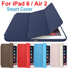 Luxury Original Official 1:1 Slim Leather Magnetic Smart Cover Cases for iPad Air 2 for Apple iPad Air 6 Tablet Case With Logo(China)