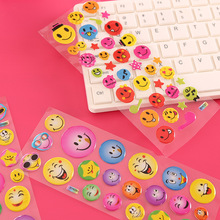 5 Sheets Funny Cartoon Emoji Smile Face Expression 3D Stickers Children PVC Stickers Bubble Sticker Kids Toys(China)
