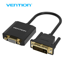 Vention DVI To VGA Adapter VGA To DVI 24+1 Adapter Cable Digital To Analog Audio Converter Cable For Xbox360 PS3 Laptop TV box(China)