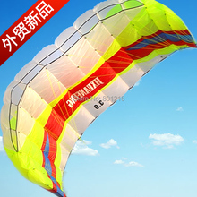 3sqm power kite,high quality 4 line or 2 line sport snow foil kite free 300lbs flying line handstrap handle free shipping(China)