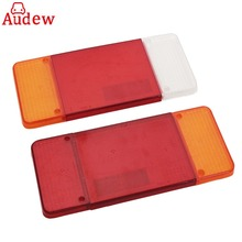 2Pcs Stop Reverse Rear Tail Light Lamps Lens Lenes Cover Shell Left/Right For Iveco Eurocargo Daily For Car Truck Trailer(China)