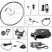 JS Electric Bike Kit Motor Brushless 500w 36v 10ah lithium battery 250W 350W for 20'' 26'' 700c with LED LCD Bicycle Computer