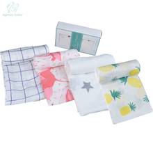 "Summer Infant Baby Swaddle Good Breathable Pure Newborn Organic Cotton Muslin Wrap swaddle Blanket 47x47"" Baby Muslin Swaddle(China)"