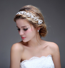 Real Image 2016 Bridal Accessories Wedding Fascinator Cheap Modest Sexy Vintage Hair Wear New Arrive Hot Sale