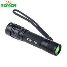 Waterproof high power 3800LM zoomable flashlight tactical 5-mode camping hand led torch flash light for 18650 battery