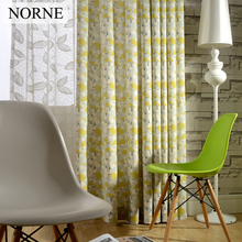 NORNE Floral Print Room Darkening Window Curtain Panel Drapes,Thermal Insulated,Privacy Assured Curtains for Bedroom Living Room(China)