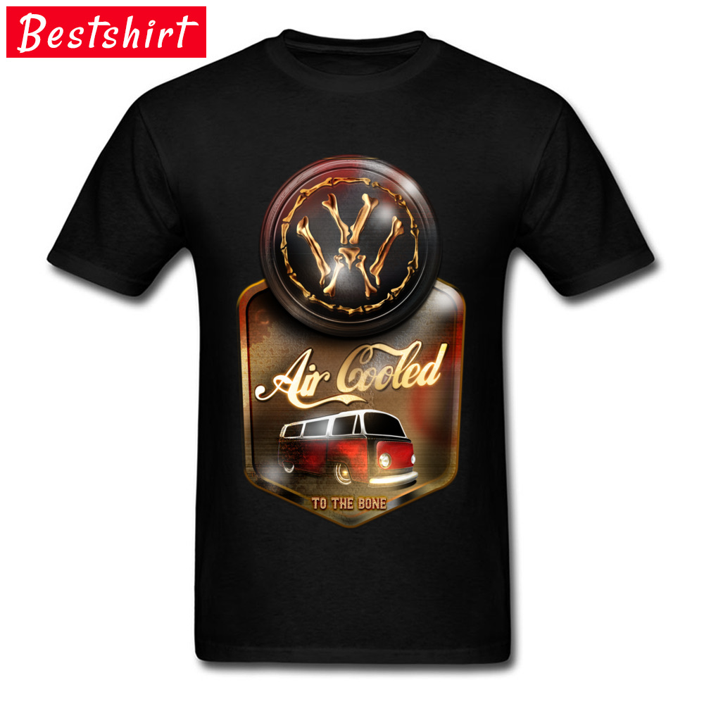 Air Cooled to the Bone Europe NEW YEAR DAY Pure Cotton O Neck Youth Tops & Tees T Shirts 2018 Newest Short Sleeve T-shirts Air Cooled to the Bone black