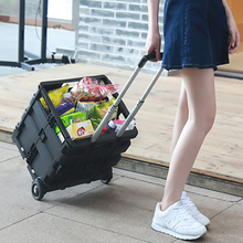 car trunk organizer auto trolley suitcase travel suitcase for car draw bar box for shipping storage box for car boot(China)