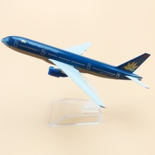 16cm Metal Plane Model Air Vietnam Airlines Boeing 777 B777 Airways Aircraft Airplane Model w Stand Gift(China)