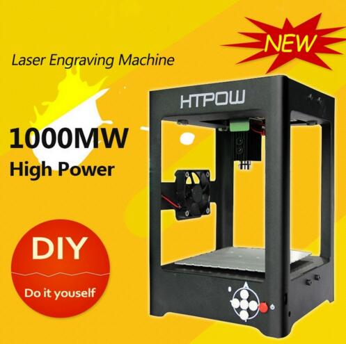 Supercarver 1000mw Miniature Electric Laser Engraving Machine Alloy Laser Engraver Household DIY Mini USB Printer Equipment(China (Mainland))