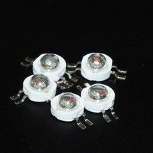 10pcs LED 1W RGB Diode 3chip 4pin High Power Beads 1Watt Full Color Light-Emitting-Diode Brightness Diodo RED Green Blue Lampada