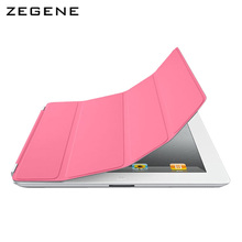 Case For ipad pro 12.9 inch smart cover single-sided PU leather case ultra-thin three-fold magnetic skin sleep protection shell