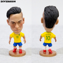 "DIVERSION Soccer Player Star 10# Neymar (BR-2016) 2.5"" Toy Doll Figure"