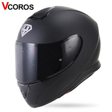 New VCOROS full face motorcycle helmet YOHE individuality locomotive moto racing helmets men and women fashion motorcycle helmet(China)