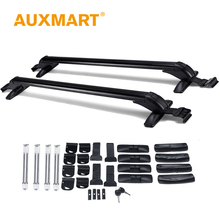 Auxmart Universal Roof Rack Cross Bar 90~120cm Car SUVs Pickups With Anti-theft Lock Load Cargo Luggage Outdoor bike rack 132lbs