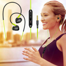 3.5mm Profession In-Ear Sport Earphones Running Headsets Stereo Super Clear Headset with MIC for iPhone Mobile Phone MP3