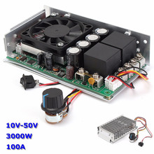 Newest 10-50V DC 100A 3000W Programable Reversible DC Motor Speed Controller PWM Control Reversible Electric Motor(China)
