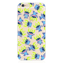 "Stitch Sulley Cell Phone Case Toy Story Cover For Apple iPhone 6 plus 5.5"" Case Minnie Kitty Shell For Coque iPhone 6s plus Case"