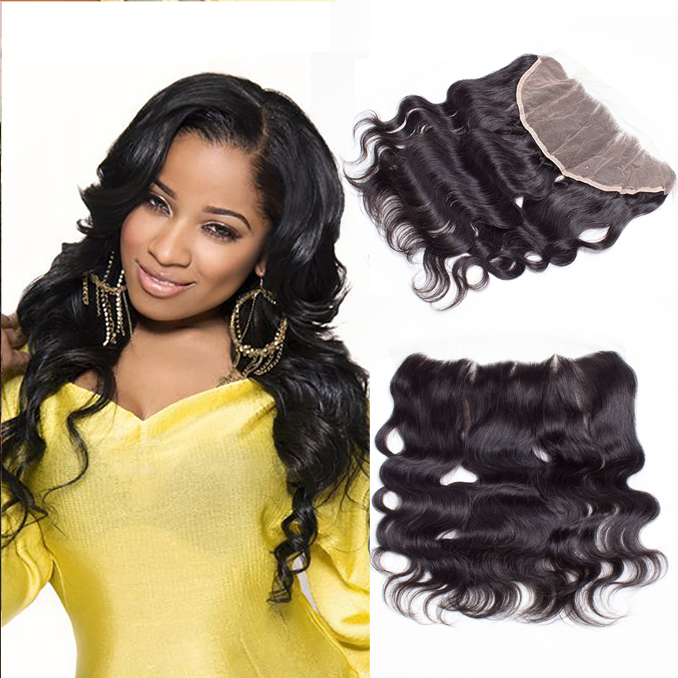 8a Brazilian Lace Frontal Closure Brazilian Body Wave Frontal With Baby Hair Brazilian Body Wave Lace Frontal Closure Bleached<br><br>Aliexpress