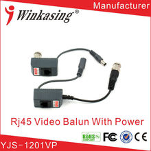 China manufacturer cctv HD balun support video and power rj45 cable