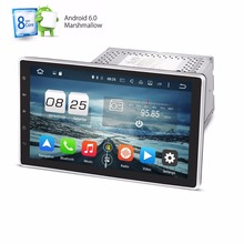 2G+32G Eight 8 Core 2 Din Android 6.0 Car DVD Player 10.1 Inch 1024*600 HD Car GPS Navigation Head Unit Stereo Radio