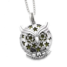 Buy 1pcs Hollow Vintage Aromatherapy Perfume Essential Oils Diffuser Necklace Locket Necklace Pendant Charming Owl Necklace for $1.50 in AliExpress store