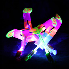 5 Pcs Funny LED Light Arrow Rocket Helicopter Flying Toy for Children's gift  Random Color