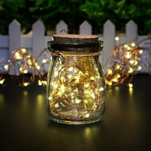 Dual Solar Copper String Lights 100 LED Outdoor Mini Automatic Warm white LED light Holidays Party Wedding Decoration lamp(China)