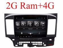 2G RAM Android 6.0 2 DIN Car DVD GPS for MITSUBISHI LANCER 2008-2016 head unit radio video player wifi + SWC Radio video Stereo