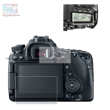 Self-adhesive Glass LCD Main Screen + Info Film Protector Cover For Canon 80D
