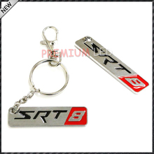 (1) Chrome Finish SRT 8 Key Chain Fob Ring Keychain For Chrysler Dodge Jeep