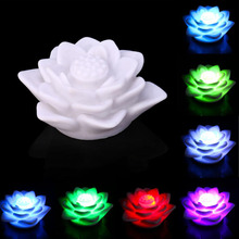 LED Romantic Rose Flower Color changed Lamp LED night lights 1pc LED Candle Light Color Changed  For Wedding Party Decoration
